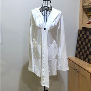 Hard Tail White Banded Cardigan